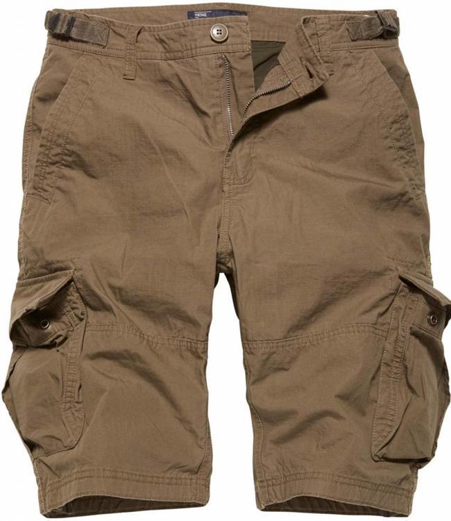 Vintage Industries Terrance shorts korte broek dark khaki