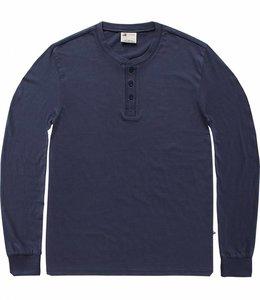 Vintage Industries Shoreline long sleeve henley shirt midnight