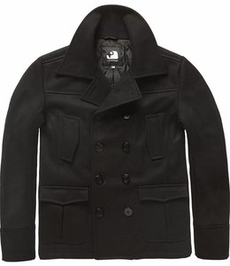 Vintage Industries Coast peacoat winterjas black