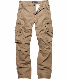 Vintage Industries Rico pants dark khaki cargo broek