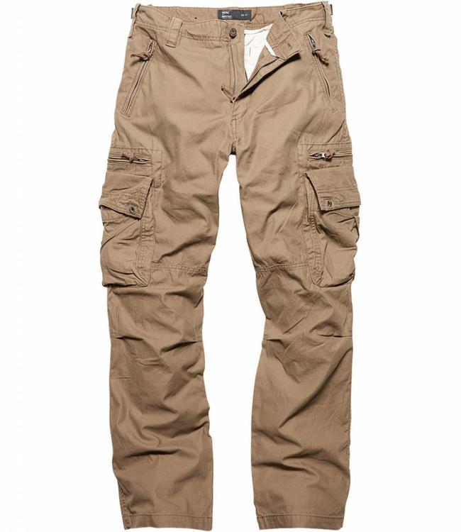 Vintage Industries Rico pants dark khaki cargo broek