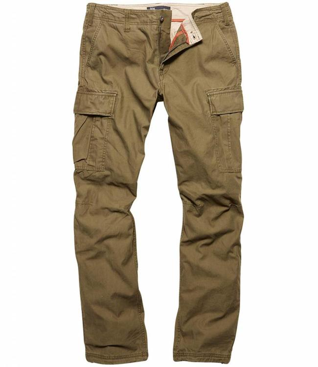 Vintage Industries Reydon BDU premium pants dark olive cargo broek