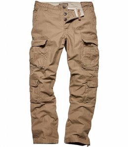 Vintage Industries Pack pants dark khaki cargo broek
