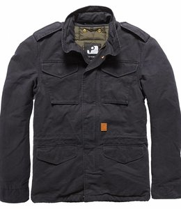 Vintage Industries Dave M65 jacket winterjas off black