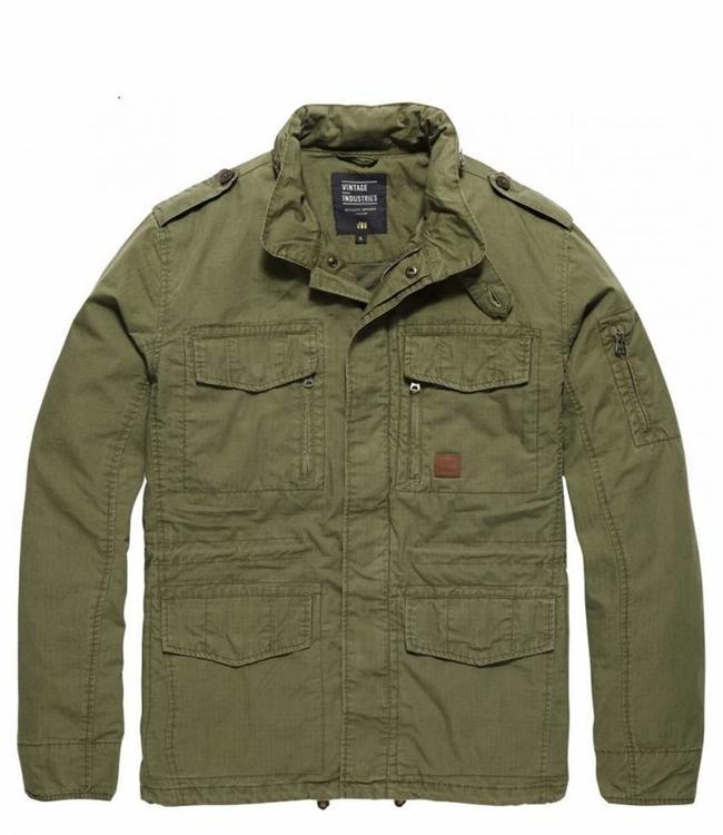 Vintage Industries Cranford jacket leger zomerjas olive drab