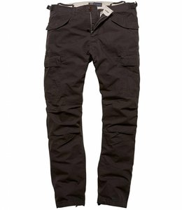Vintage Industries Miller M65 pants black cargo broek