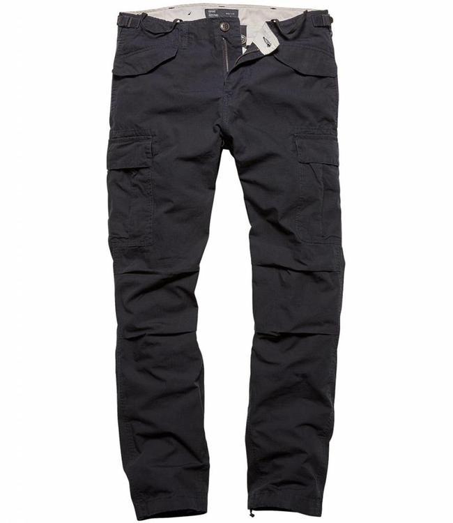 Vintage Industries Miller M65 pants dark navy cargo broek