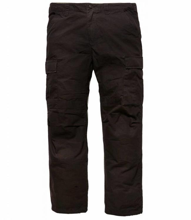 Vintage Industries Tyrone BDU pants black cargo broek