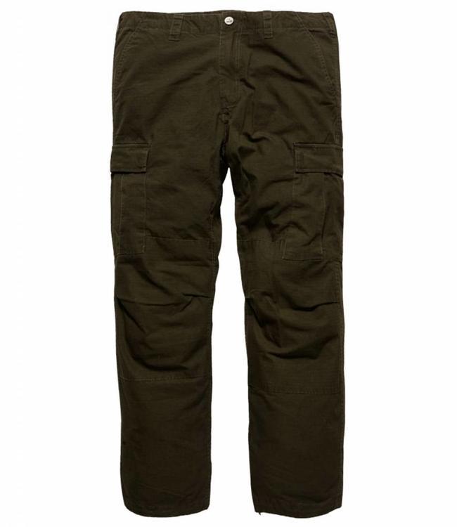 Vintage Industries Tyrone BDU pants dark olive cargo broek