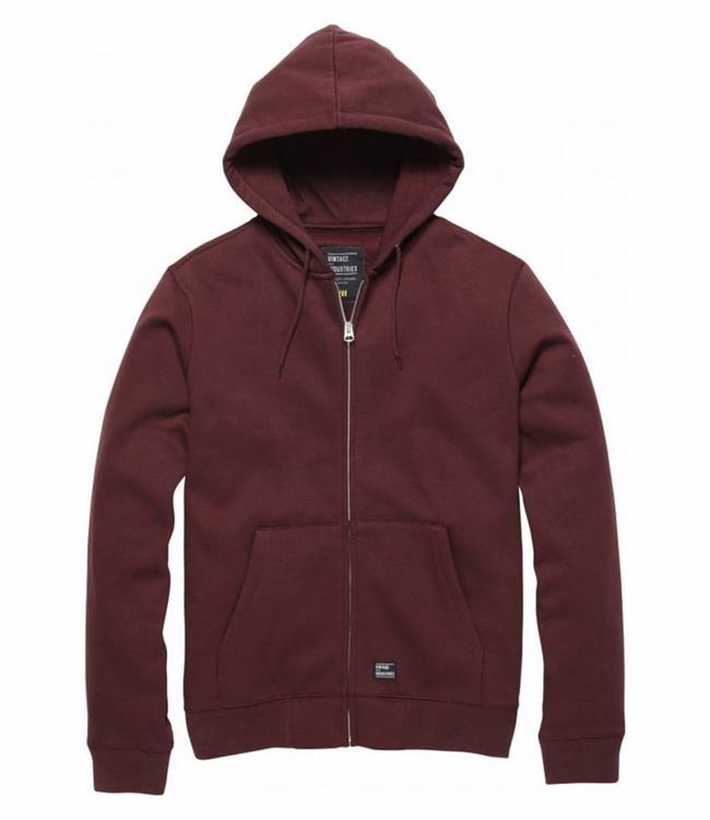 Vintage Industries Redstone hooded sweatshirt cranberry