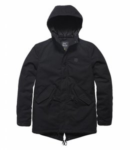 Vintage Industries Wallbrook winterjas parka black