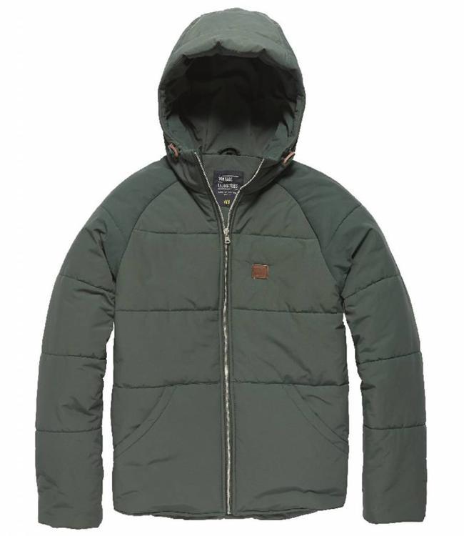Vintage Industries Gray coat winterjas pine
