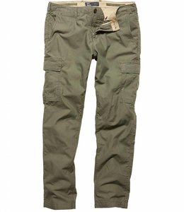 Vintage Industries Mallow pants olive cargo broek