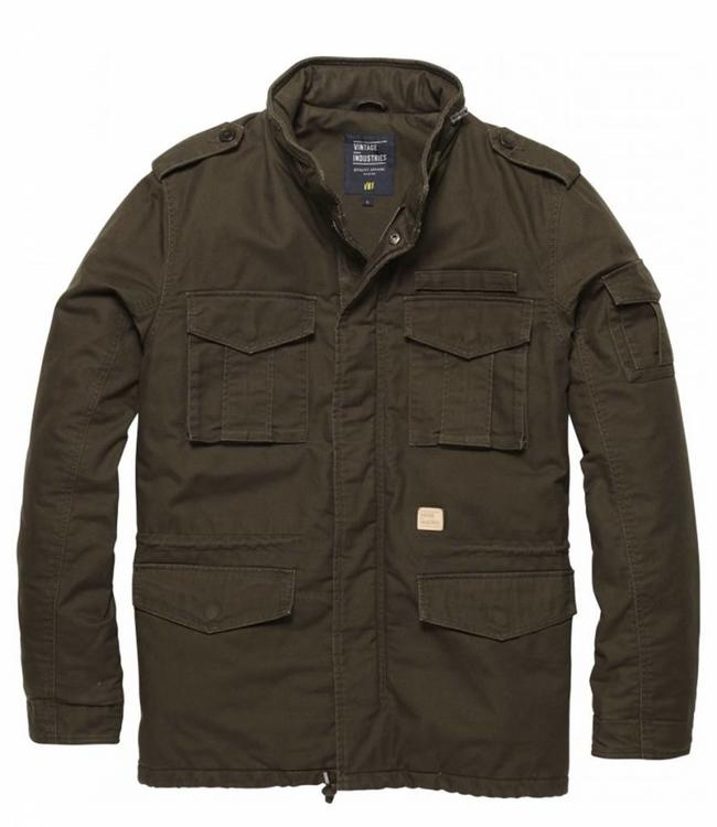 Vintage Industries M65 padded parka winterjas oak
