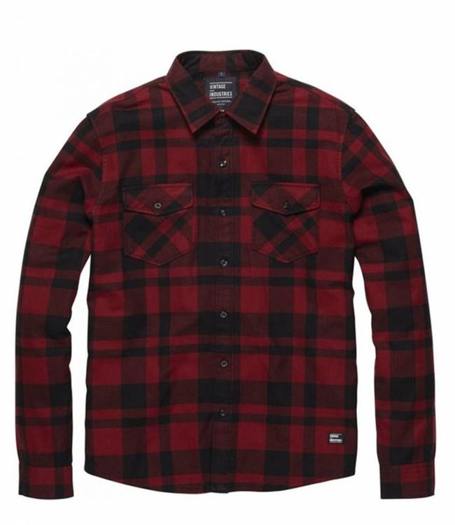 Vintage Industries Austin shirt geruite blouse red check