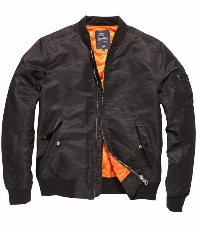 Vintage Industries Welder zomerjas bomberjacket black