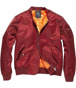 Vintage Industries Welder zomerjas bomberjacket burgundy