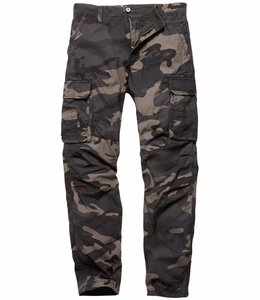 Vintage Industries Reef pants dark camo cargo broek