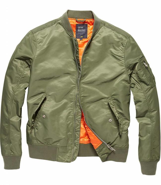 Vintage Industries Welder zomerjas bomberjacket light olive