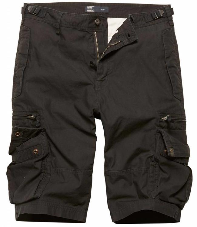 Vintage Industries Gandor Shorts Korte broek Zwart