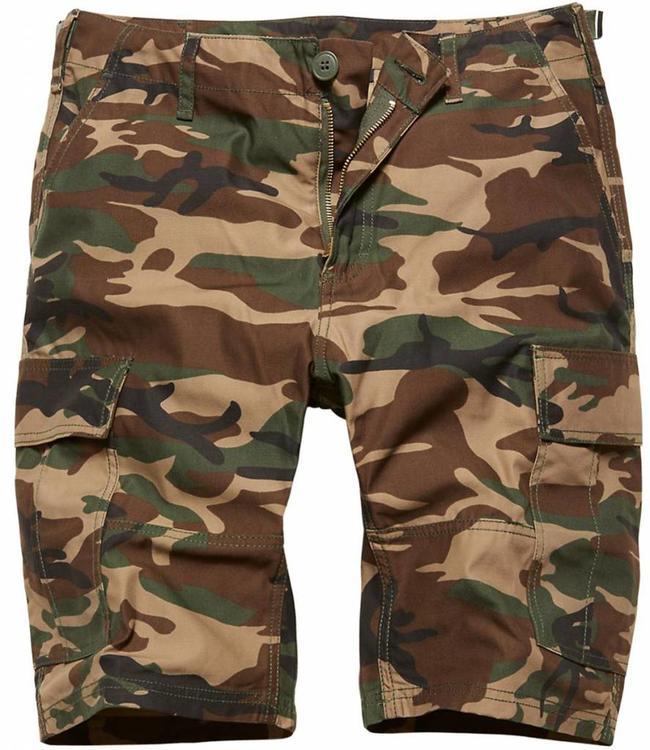 Vintage Industries BDU T/C shorts Korte broek woodland