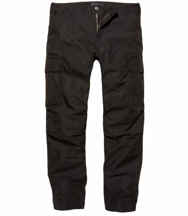 Vintage Industries Owen pants combat Cargo broek black
