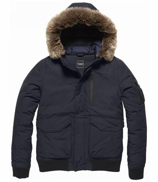 Vintage Industries Lynton jacket Winterjas navy