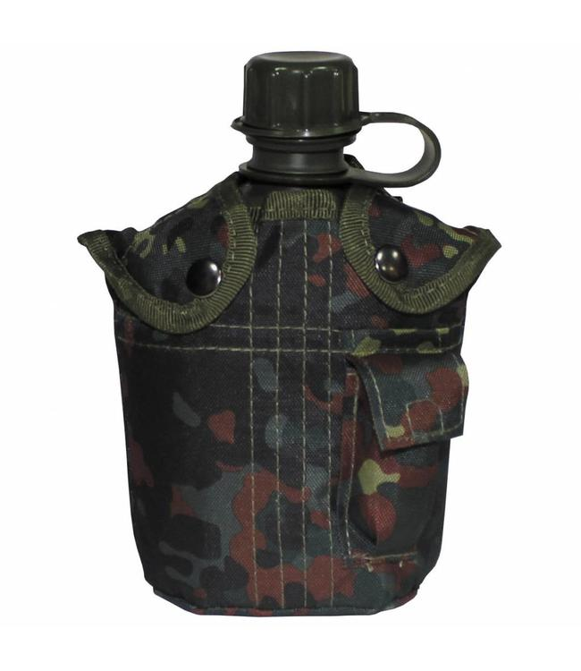 US veldfles,  BW camouflage, 1 l, cover