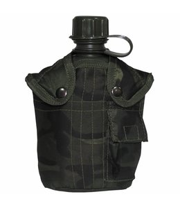 US veldfles,  woodland camouflage, 1 l, cover