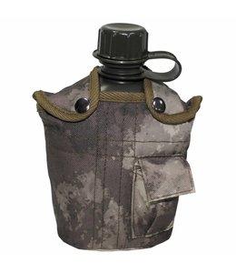 US veldfles,  1 l, cover, HDT camouflage