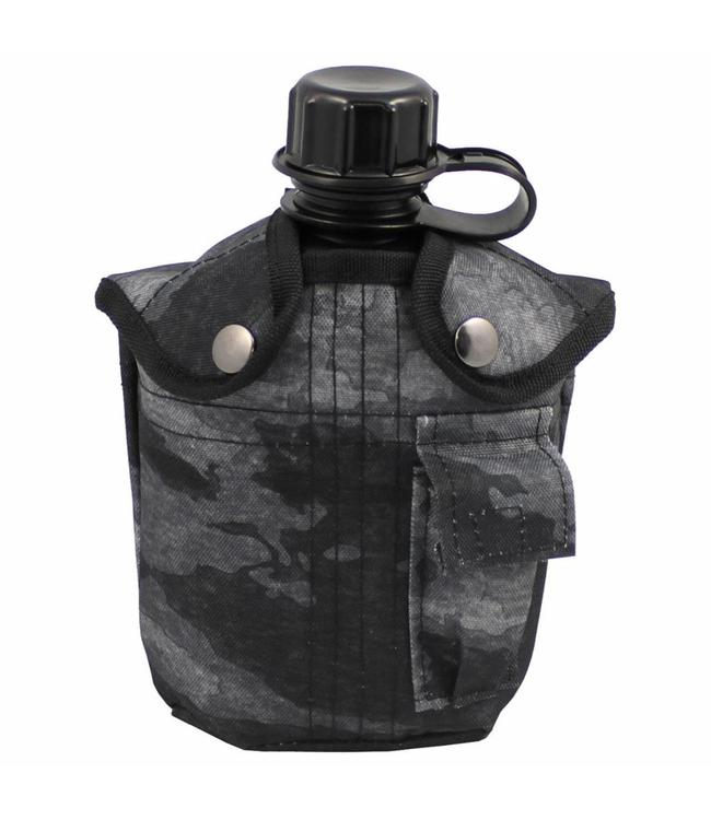 US veldfles,  1 l, cover, HDT camouflage LE