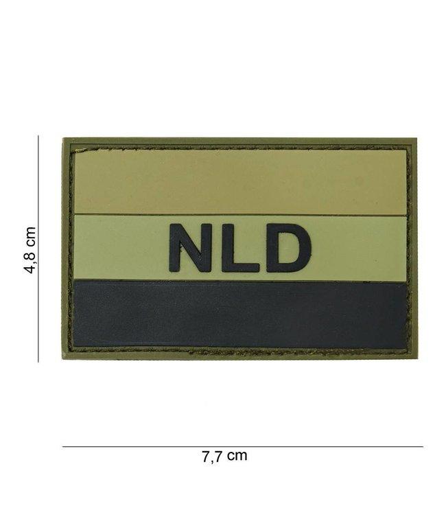 Embleem (patch) 3D PVC NLD green/black