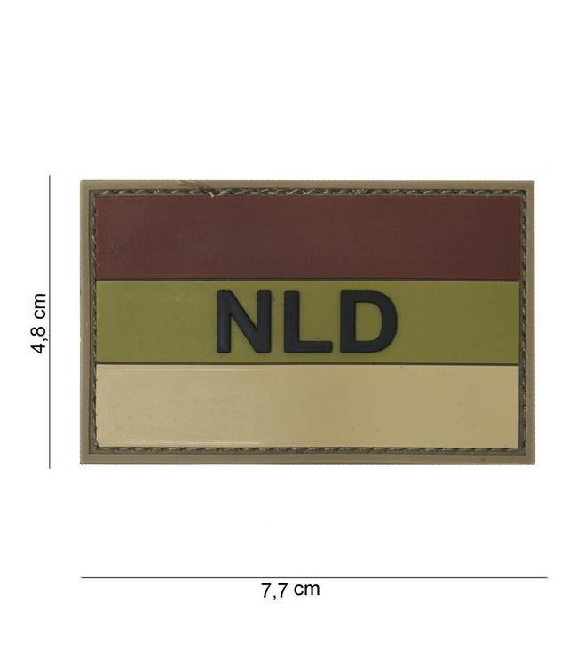 Embleem (patch) 3D PVC NLD brown/sand