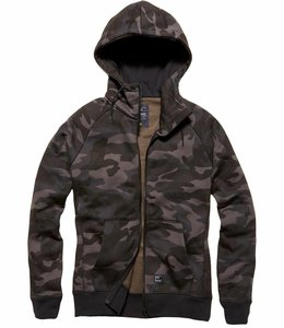 Vintage Industries Basing hooded sweater dark camo