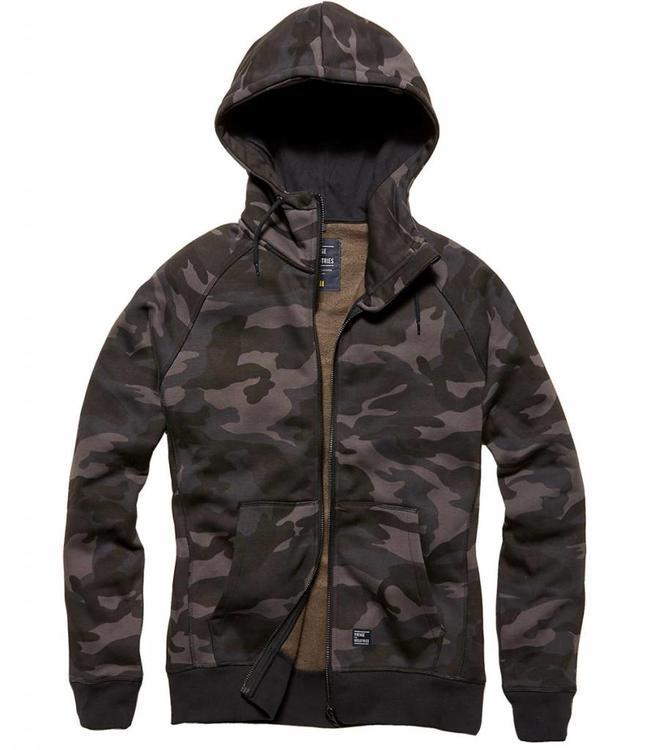 Vintage Industries Basing hooded sweater dark camo