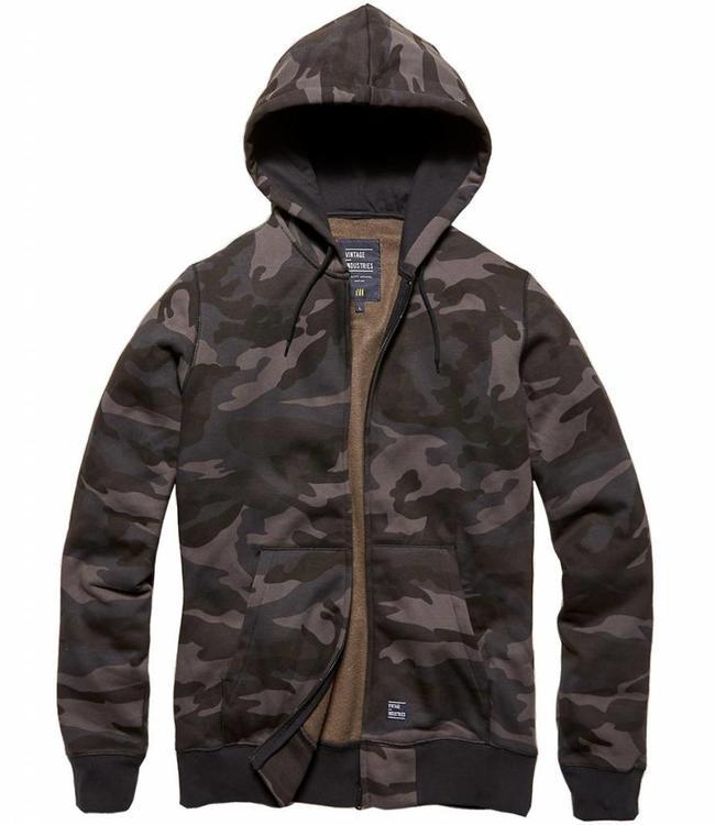 Vintage Industries Redstone hooded sweater shirt dark camo