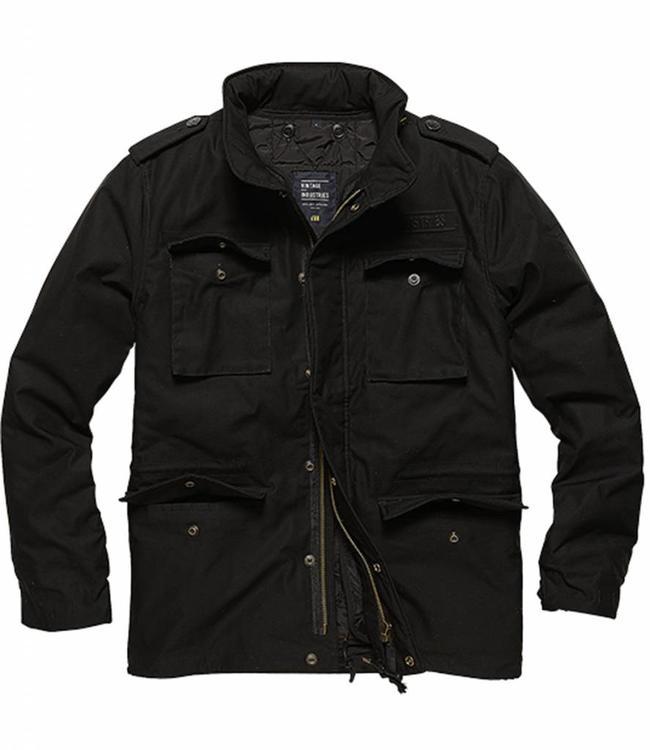 Vintage Industries Capper parka Winterjas black