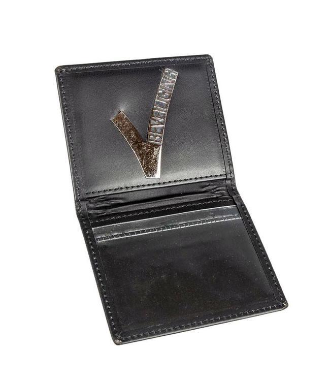 Makhai ID Card beveiligingspas houder in leder Small