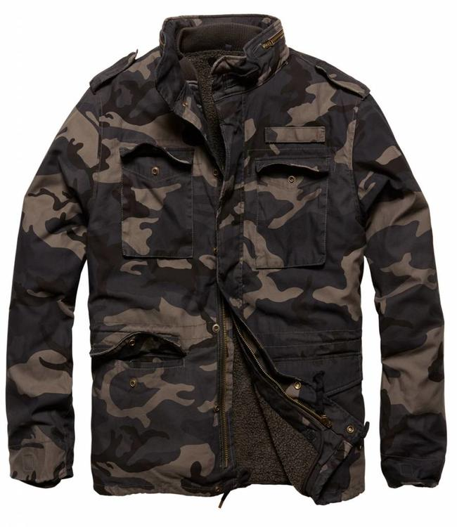 Vintage Industries Ground parka Winterjas dark camo