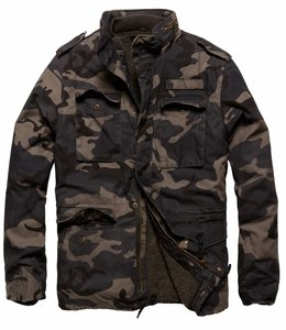 Vintage Industries Ground parka (Grote maten) Winterjas dark camo