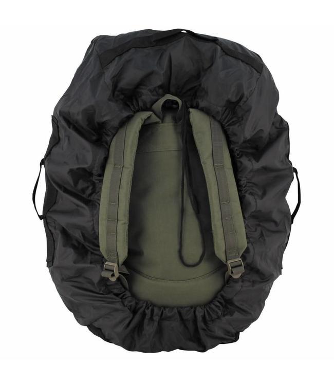 Rugzak regenhoes cover Zwart, 50-70 liter