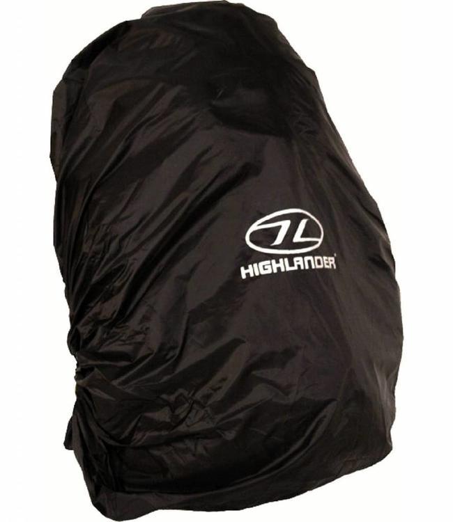 Highlander Regenhoes rugzak cover 40-50 liter Zwart