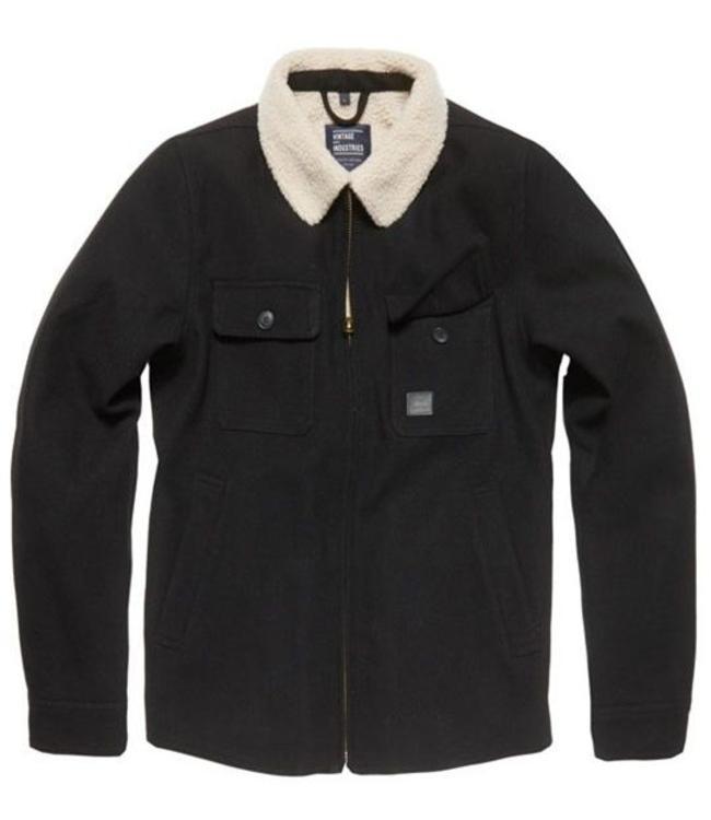 Vintage Industries Cavan jacket Winterjas Black