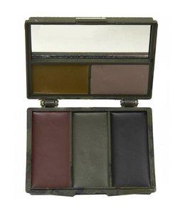 Gezicht schmink verf facepaint Woodland camo 5 kleuren