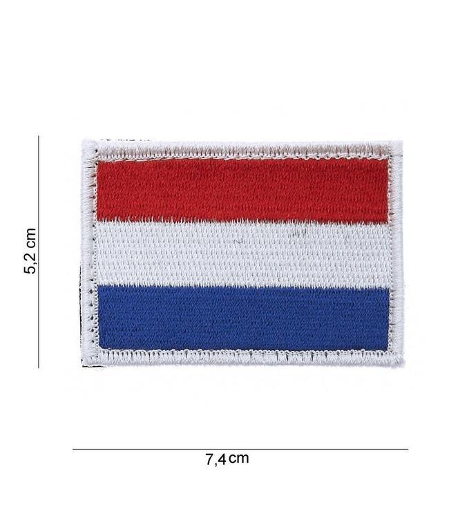 Embleem (patch) Nederlandse vlag met Klittenband