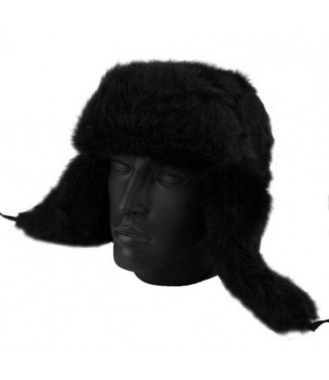 Russische bontmuts Ushanka/Chapka (nep-bont) Zwart