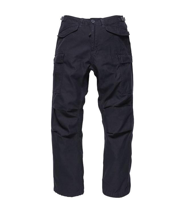 Vintage Industries M65 heavy satin pants black cargo broek