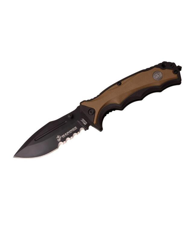 US Marines Spring Assisted Knife Coyote Inklapbaar zakmes