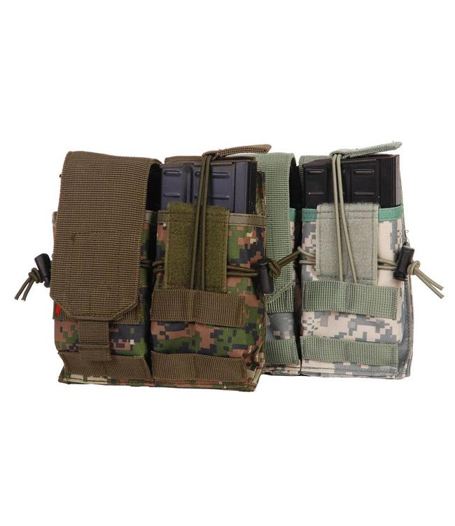 Ammo pouch Airsoft Double magazine Woodland camo
