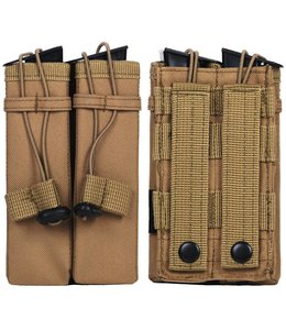 Molle pouch side arm 2 magazines #C Woodland camo
